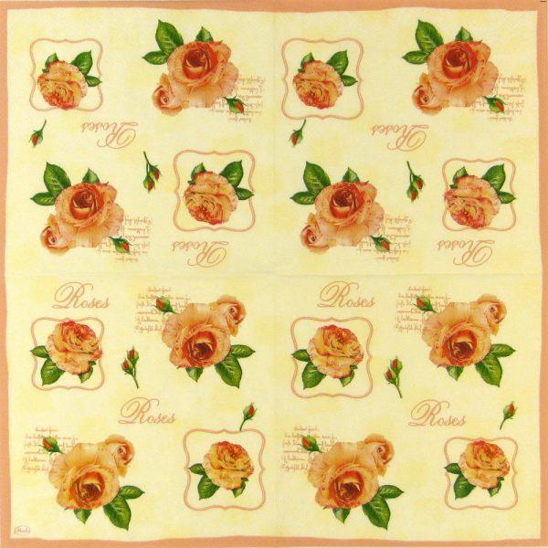 Paper Napkin - Rose Heads