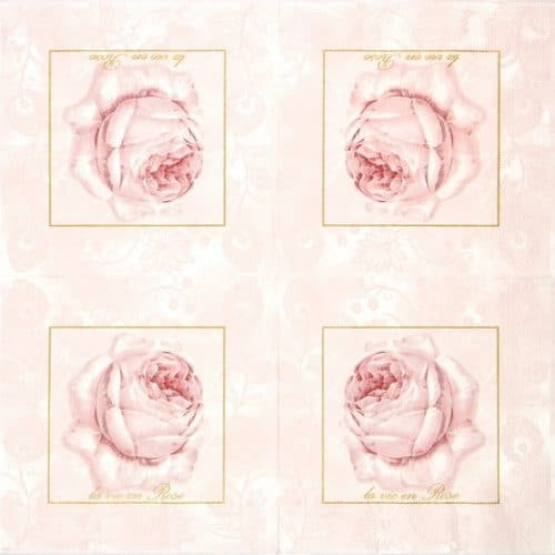 Lunch Napkins (20) - Pastel Rose