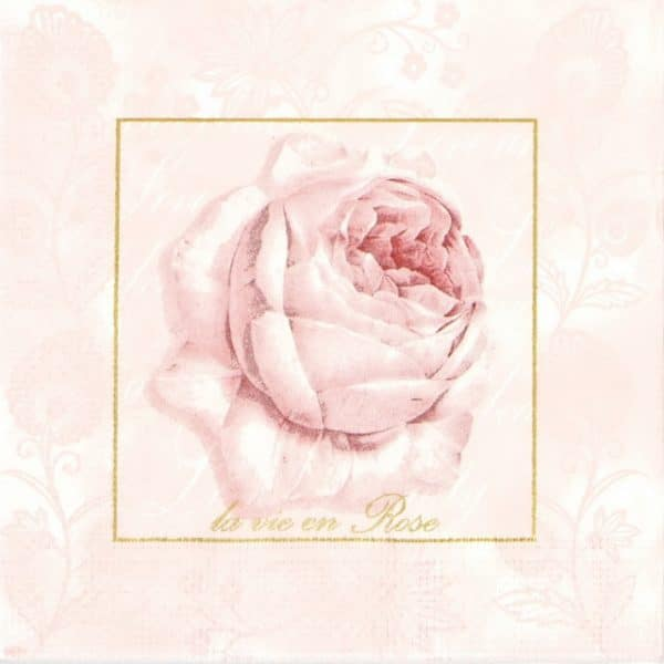 Lunch Napkins (20) - Pastel Rose