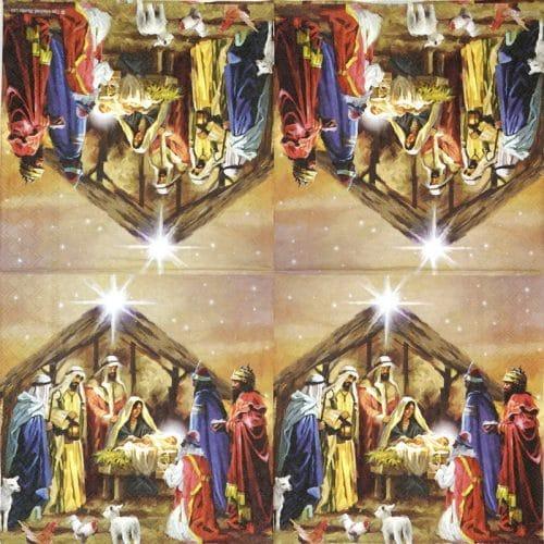 Paper Napkin - Nativity Collage
