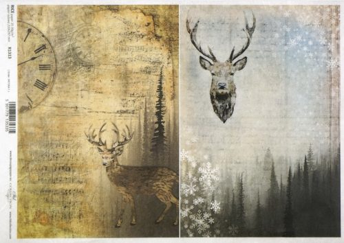 Rice Paper - Deer Background