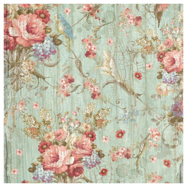 Rice Paper - Vintage Shabby Roses