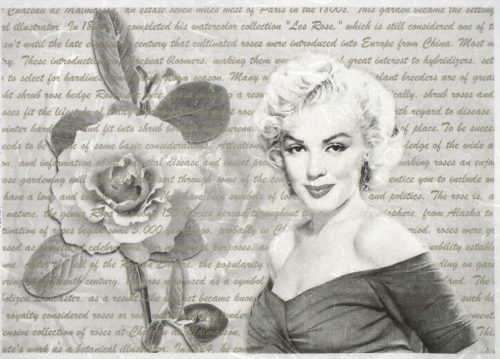 Rice Paper - Marilyn Monroe with Rose
