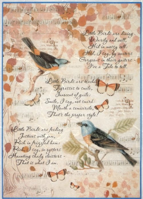 Rice Paper - Cheerful birds
