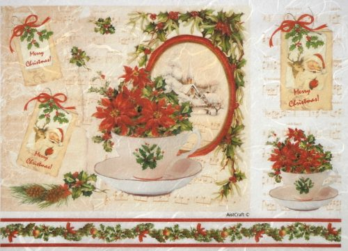 Rice Paper - Christmas Teacup