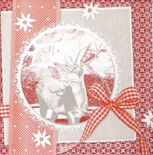Paper Napkin - Finn Red Patchwork