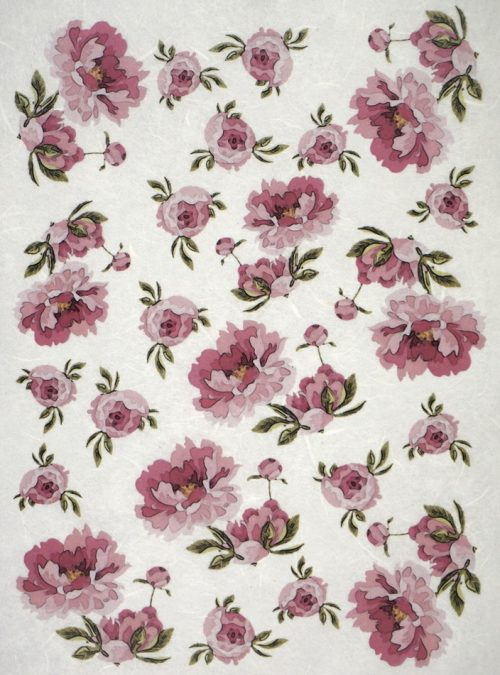 Rice Paper - Tiny Pink Flowers