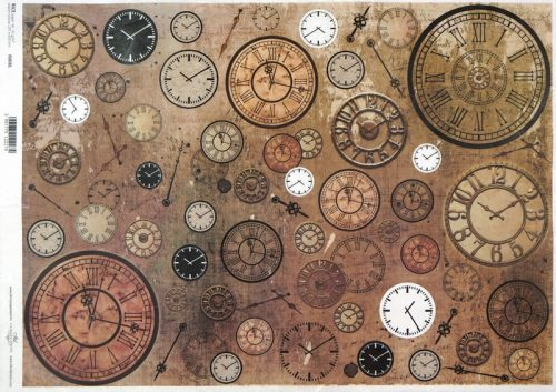 Rice Paper A/3 - Vintage Clocks