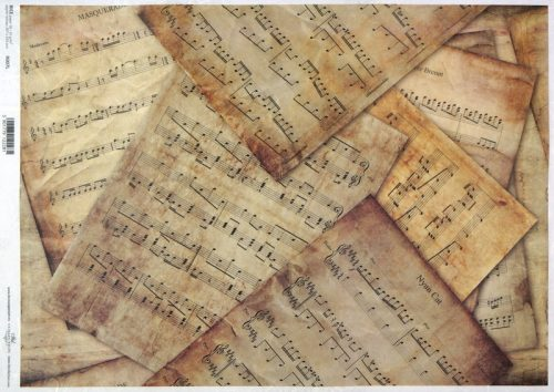 Rice Paper A/3 - Vintage Sheet Music