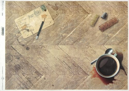 Rice Paper A/3 - Vintage Card Coffee