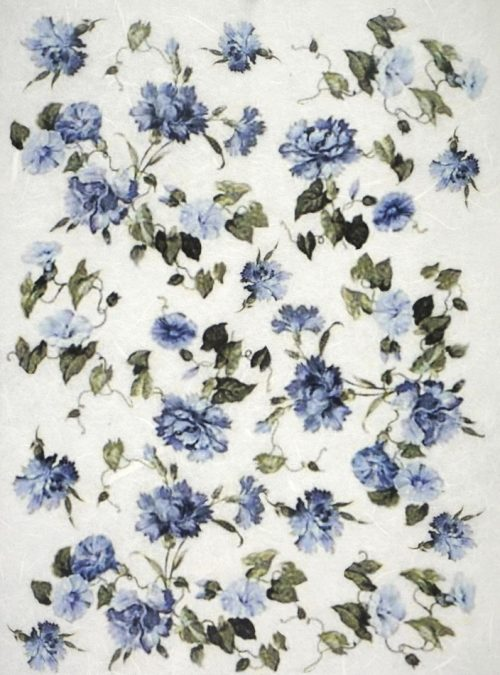 Rice Paper - Blue Flowers