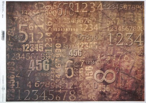 Rice Paper A/3 - Vintage Numbers