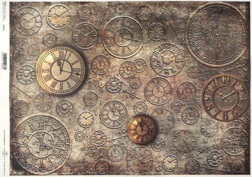 Rice Paper A/3 - Vintage Clocks No.2