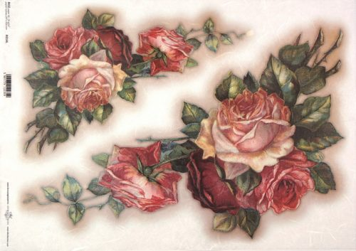 Rice Paper A/3 - Vintage Painted Rose