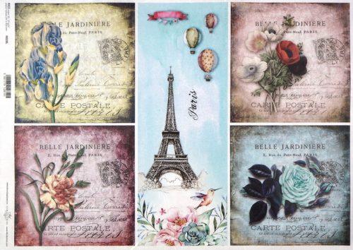 Rice Paper A/3 - Belle Jardiniere Paris