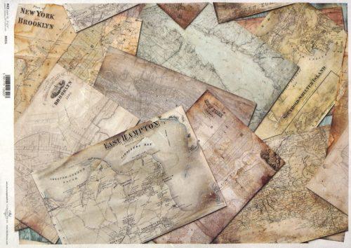Rice Paper A/3 - Vintage City Maps