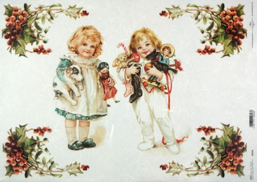 Rice Paper A/3 - Christmas Girls