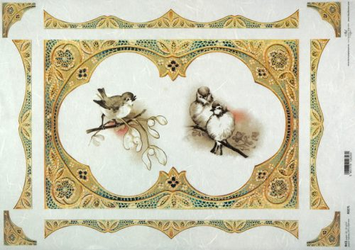 Rice Paper A/3 - Winter Friends Robin