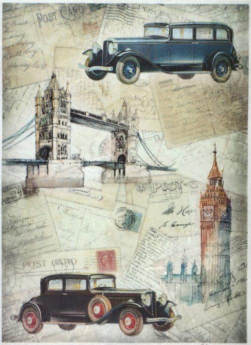 Rice Paper A/3 - Vintage Trip to London