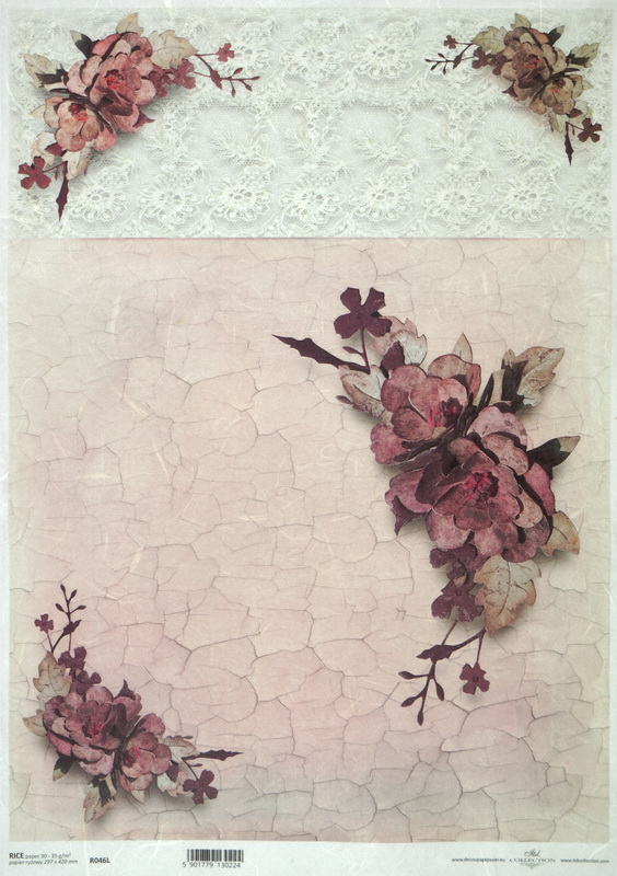 Rice Paper - Cracked Flowers
