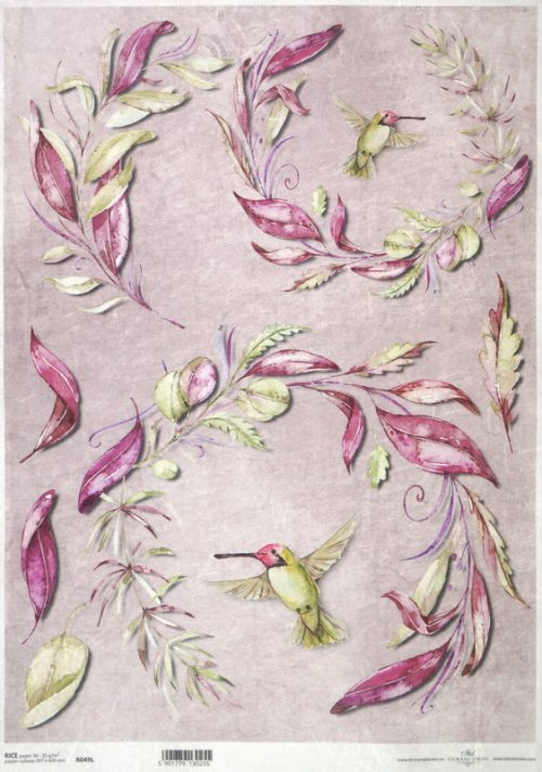 Rice Paper - Hummingbird & Twigs