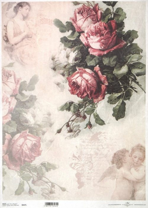 Rice Paper - Roses and angels