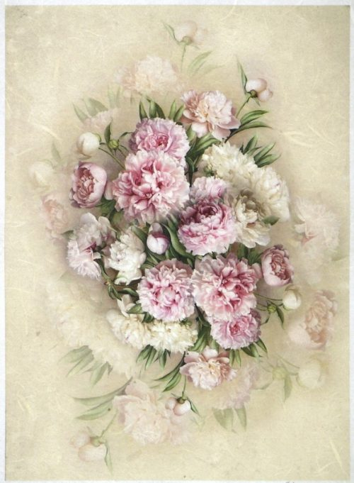 Rice Paper A/3 - Bouquet of Peony