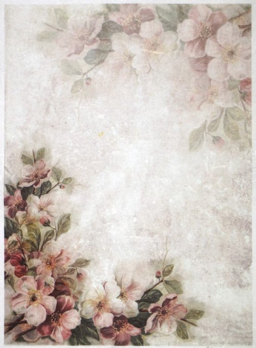 Rice Paper A/3 - Pink Blossoms and Flowers