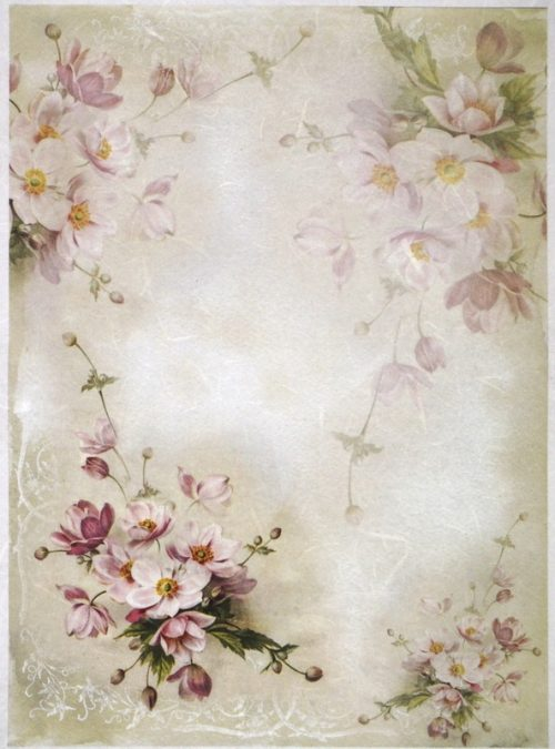 Rice Paper A/3 - Pink Blossoms