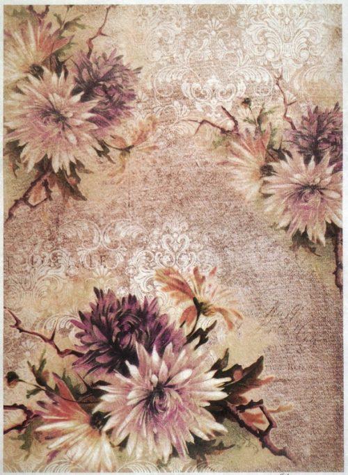 Rice Paper A/3 - Flower Wallpaper