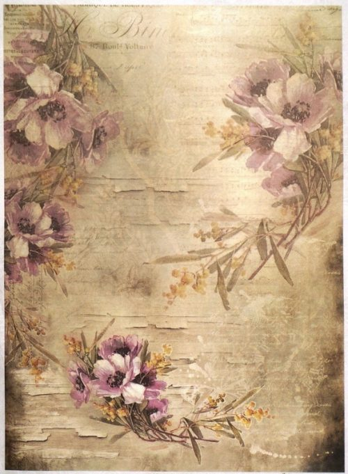 Rice Paper A/3 - Mulberry Wallpaper Multi