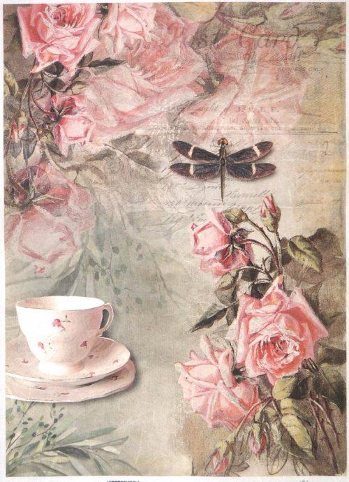 Rice Paper - Vintage Tea & Roses
