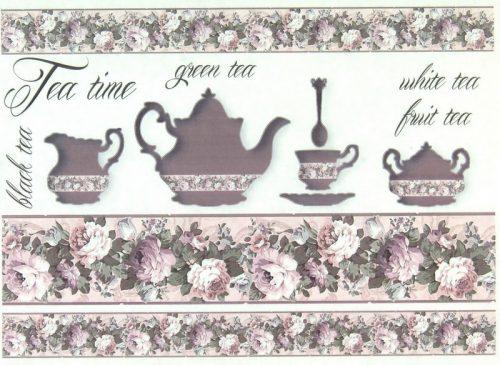 Soft Decoupage Paper - Vintage Tea Time