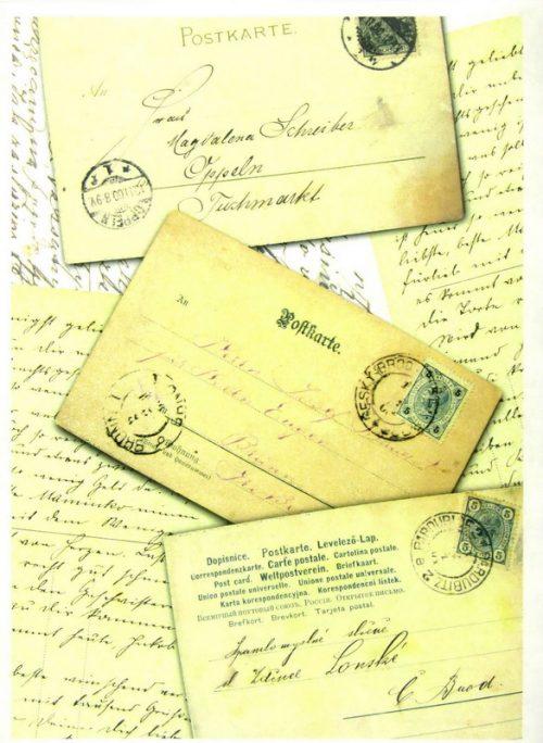 Soft Decoupage Paper - Vintage Postcard