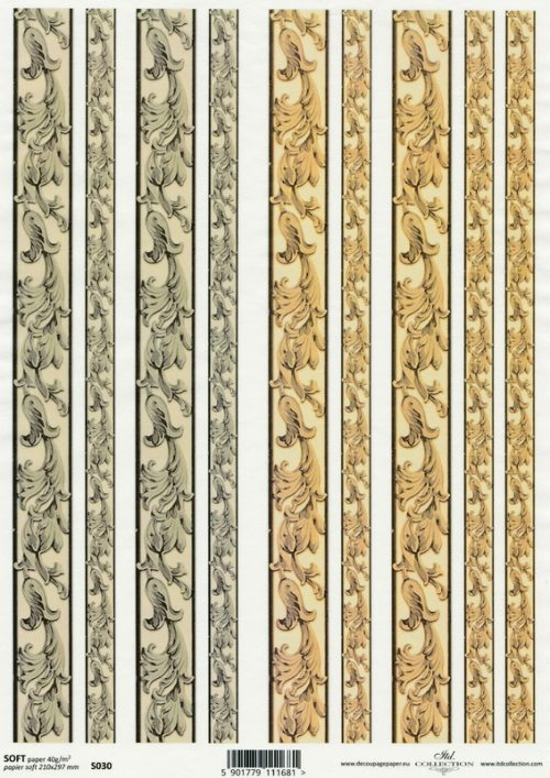 Soft Decoupage Paper - Classic Borders