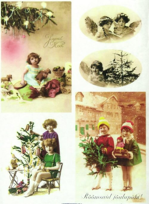 Soft Decoupage Paper - Vintage Christmas Eve