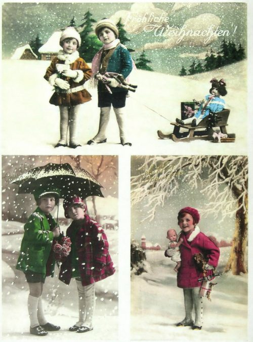Soft Decoupage Paper - Vintage Snowing