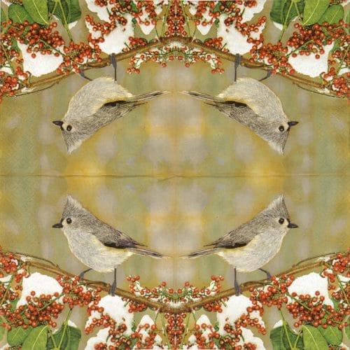 Paper Napkin - Tufted Titmouse