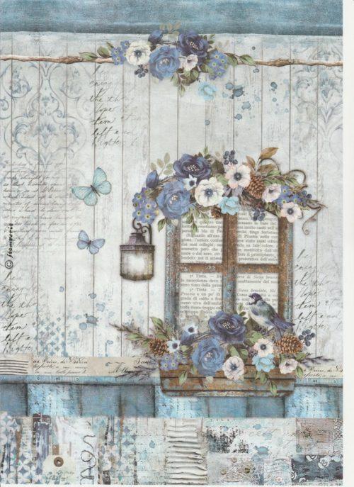 Rice Paper - Blue Land Window