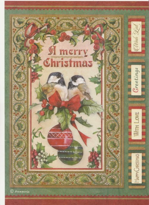 Rice Paper - Christmas birds