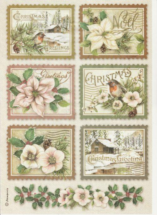 Rice Paper - Winter Botanic stamps
