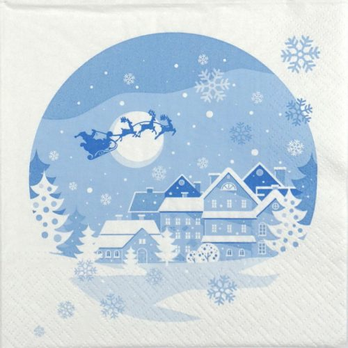 Paper Napkin - Santa in the Sky