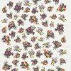 Rice Paper A/3 - Small purple bouquets