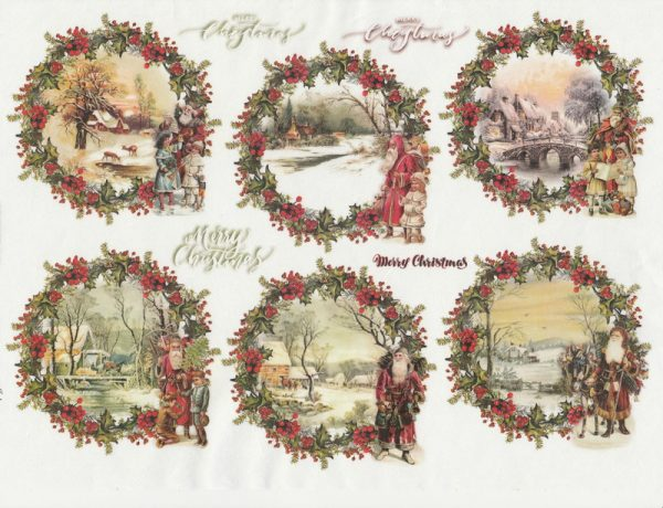 Rice Paper A/3 - Christmas  packets
