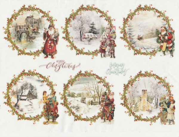 Rice Paper A/3 - Christmas  packets 4