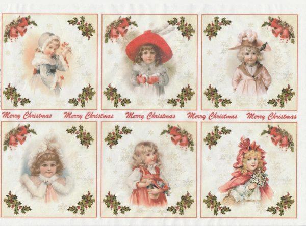 Rice Paper - Merry Christmas Girls