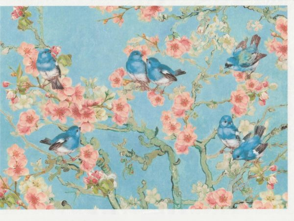 Rice Paper - Blossom blue Large