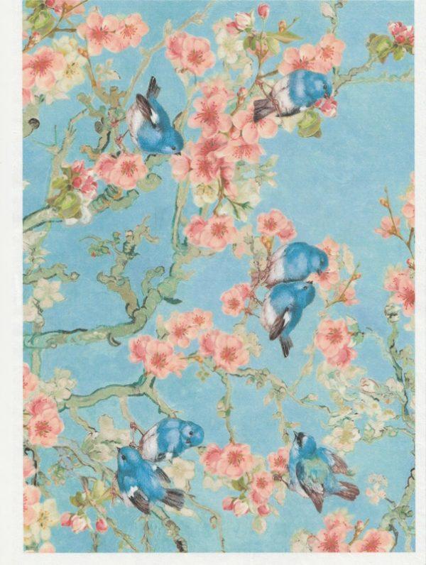Rice Paper - Blossom blue