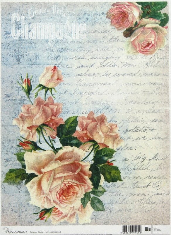 Rice Paper - Letter with roses