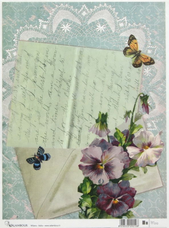 Rice Paper - Letter and Flower